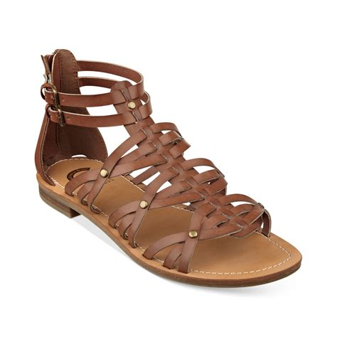 sandals guess g by guess hendal gladiator sandals in brown lyst