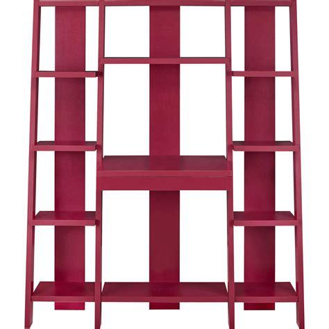 ladder bookcase desk ameriwood home gradient ladder desk bookcase espresso ebay