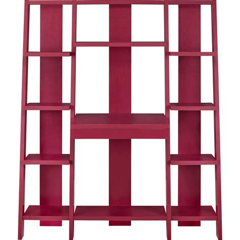 ladder bookcase with desk ameriwood home gradient ladder desk bookcase espresso ebay