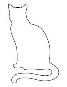 Cat Silhouette Template by Sitting Cat Pattern Use The Printable Outline For Crafts