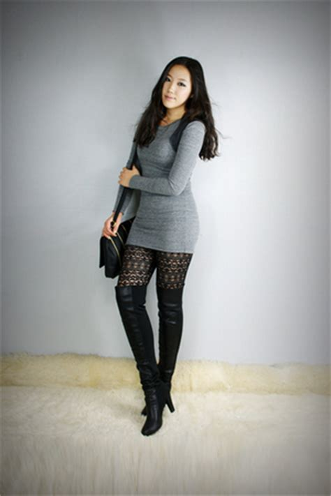 thigh high boots overknee mini dress chictopia