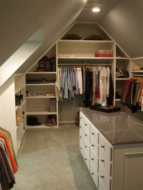 room closet ideas sweet closet in attic desin with open shelves and cabinet island ideas decorating slanted attic