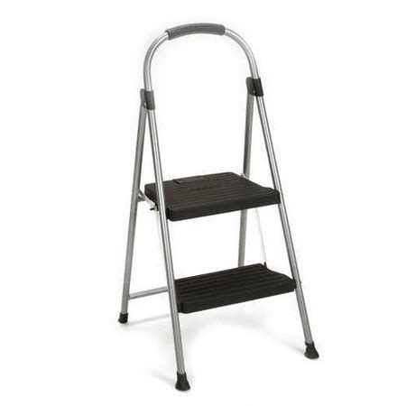 2 Step Steel Step Stool by Cosco 2 Step Steel And Resin Folding Step Stool Walmart