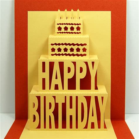 Pop Up Card Happy Birthday Template Capadia Designs Happy Birthday Pop Up