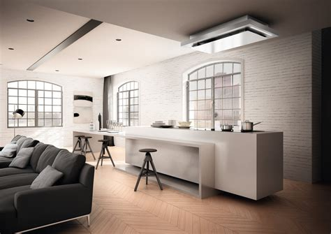 cappa incasso soffitto cappa a soffitto in acciaio inox e vetro ad incasso skypad