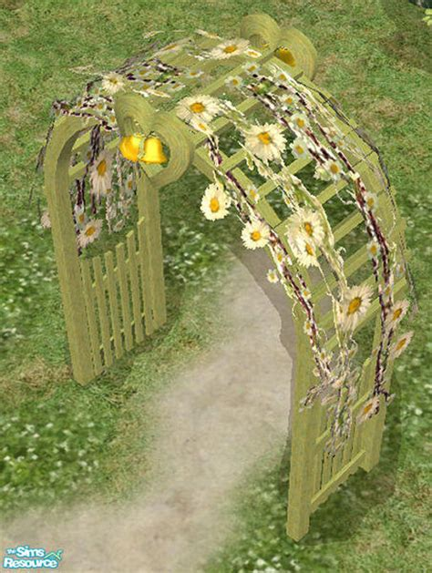 Wedding Arch In Sims 3 by Helena S Wedding Arch With Daisies