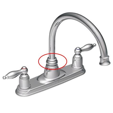kitchen faucet leaking at base moen besto