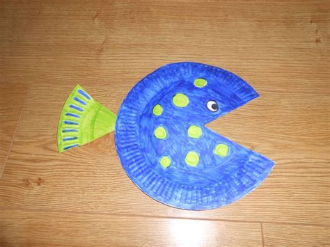 Paper Plate Fish Craft - paper plate fish diy craft