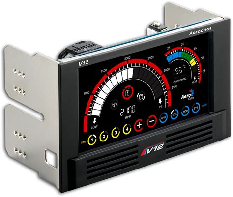 best computer fan controller v12xt 4 channel lcd touch panel fan controller