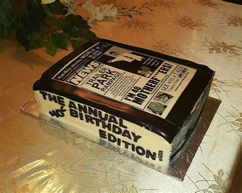 newspaper themed cake 62 best mmmm cakes images on pinterest anniversary