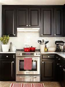 Kitchen Backsplash With Dark Cabinets One Color Fits Most Black Kitchen Cabinets
