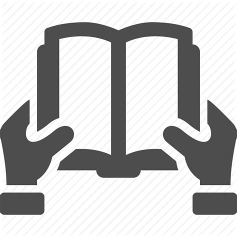 How To Design A Bookshelf by Book Education Hand Learning Opened Reading Icon