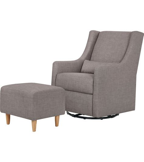 swivel glider with ottoman babyletto toco swivel glider ottoman grey tweed