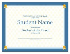 free student of the month certificate templates certificate for student of the month free certificate