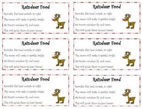 reindeer food label by flukes teachers pay teachers