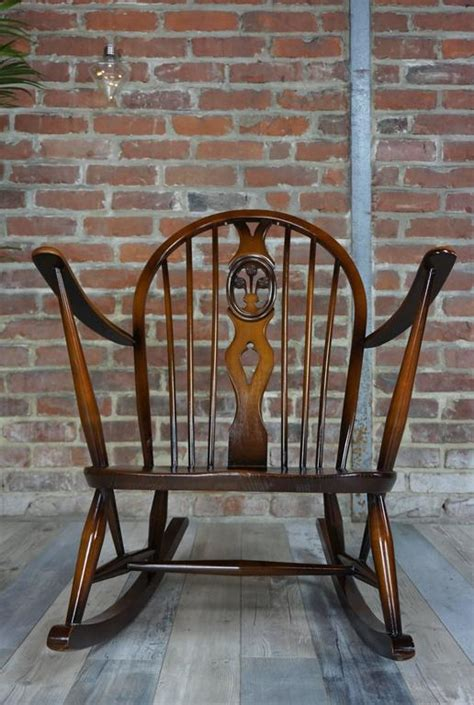 ercol rocking chair replacement cushions rocking chair 1950s ercol with cushions at 1stdibs