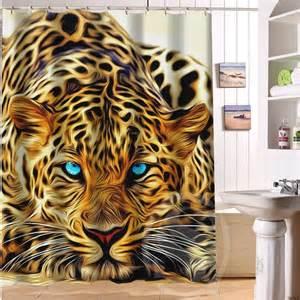 tiger bathroom designs hot sale custom leopard and tiger animal print shower