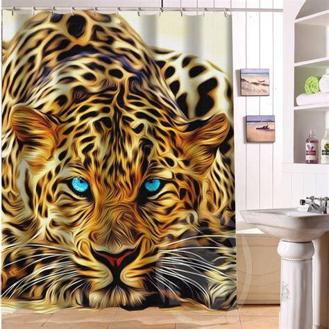 tiger print shower curtain online get cheap leopard print curtains aliexpress com
