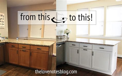 out of curiosity painted or stained kitchen cabinets how to paint kitchen cabinets the love notes blog