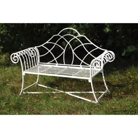 cream garden bench garden furniture shabby chic metal bench vintage look