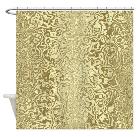 decorative gold shower curtain by showercurtains1