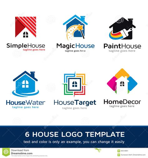 realestate logo template design vector cartoon vector