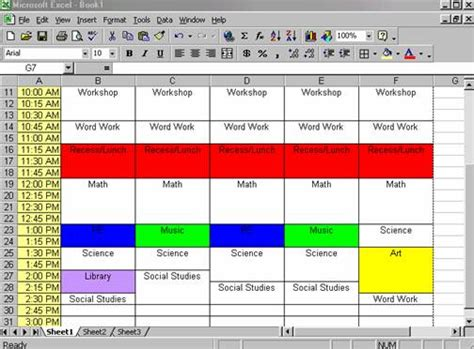 make a schedule template creating a class schedule using excel