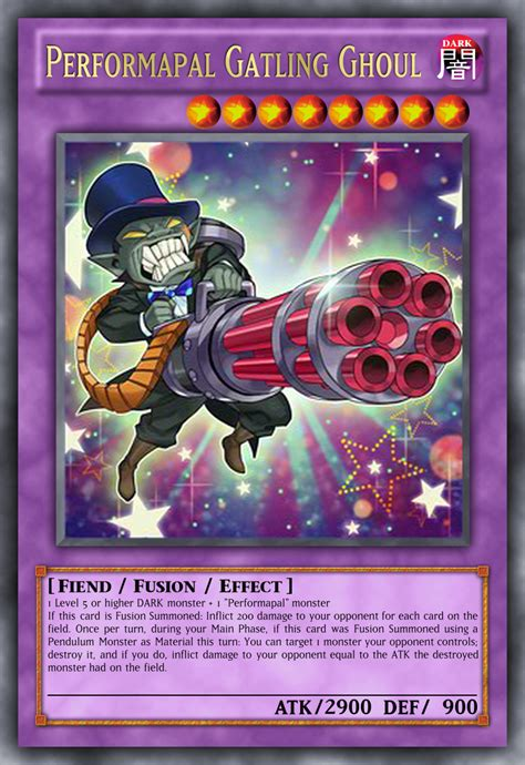 Yugioh Hippo Carnival Tdil En053 Common Yu Gi Oh performapal gatling ghoul by kyoryugold97 on deviantart