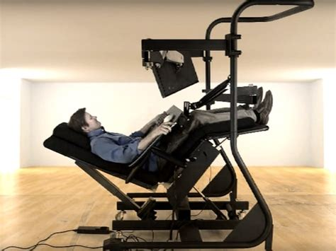 lay down computer desk zero gravity workstation is every computer user s iron