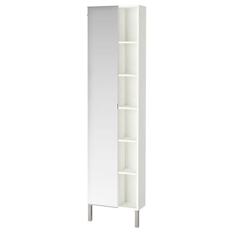 ikea bathroom cabinets white lill 197 ngen mirror cabinet 1 door 1 end unit white 49x21x194