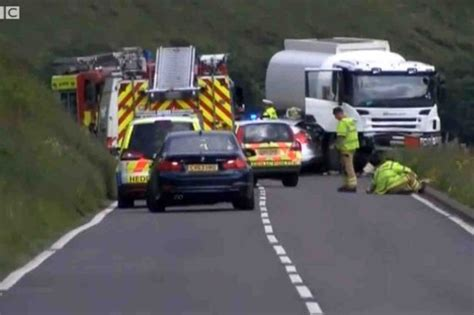 car crash south wales a44 crash investigate horrific which killed four and left a