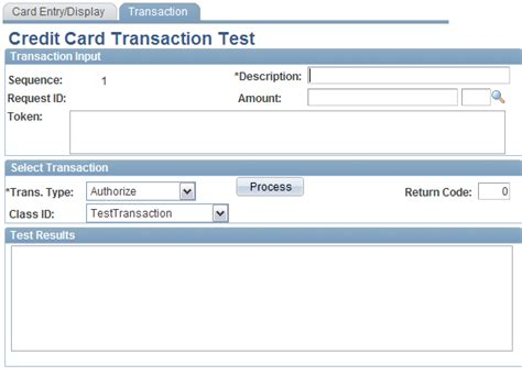 Sle Credit Card Test Numbers Setting Up Credit Card Interface Elements