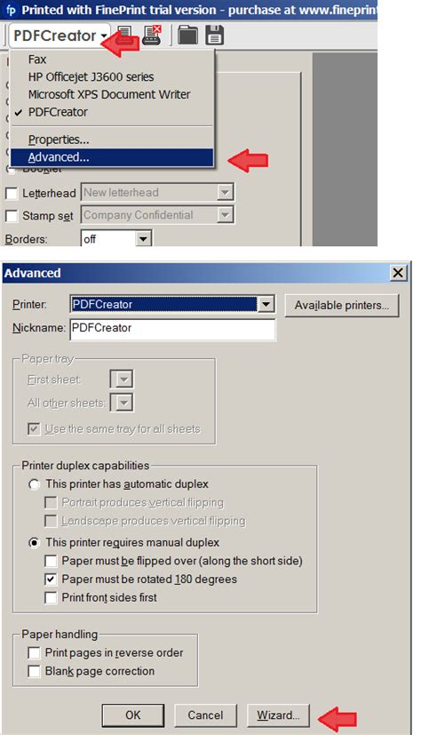 resetting printer settings how to reset duplex settings for my printers in fineprint