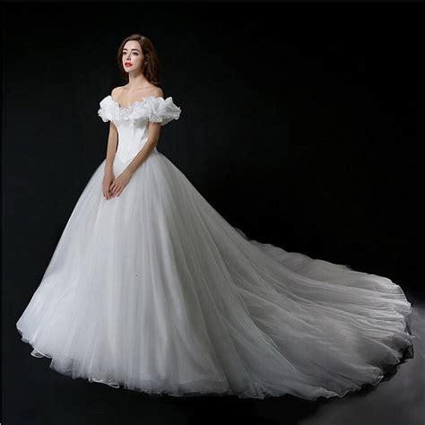 5 Real Weddings To Be Inspired By by Real Photo Cinderella Wedding Dress Shoulder Princess