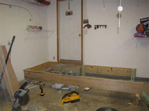 adding mudroom built ins to the garage the kim six fix home decor home happy home mudroom progress week 1