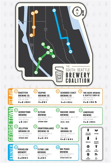 seattle microbreweries map map south seattle brewery coalition