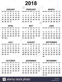 Poland Calendario 2018 Simple Editable Black And White Vector Calendar 2018 Year