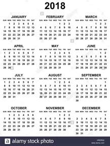 Poland Kalendar 2018 Simple Editable Black And White Vector Calendar 2018 Year