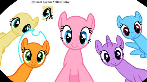 my little pony mane 6 base five ponies mlp base newhairstylesformen2014 com