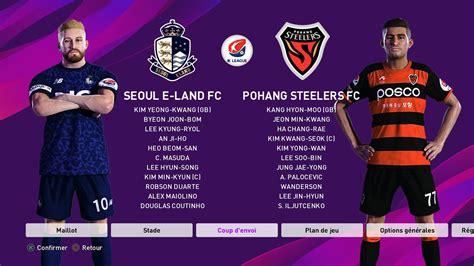 pes  ps option file  league   rominh korea
