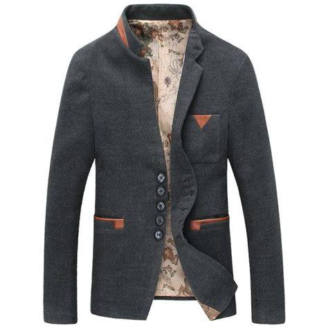 Blazer Korea Slimfit 5 wool blazer stand collar suit korean style designer blazers for blazer masculino slim