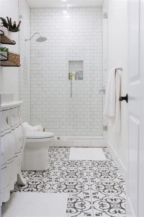 basement bathroom reveal    tile