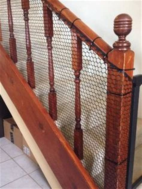 banister safety guard baby safety for stair railings fabric weaved through