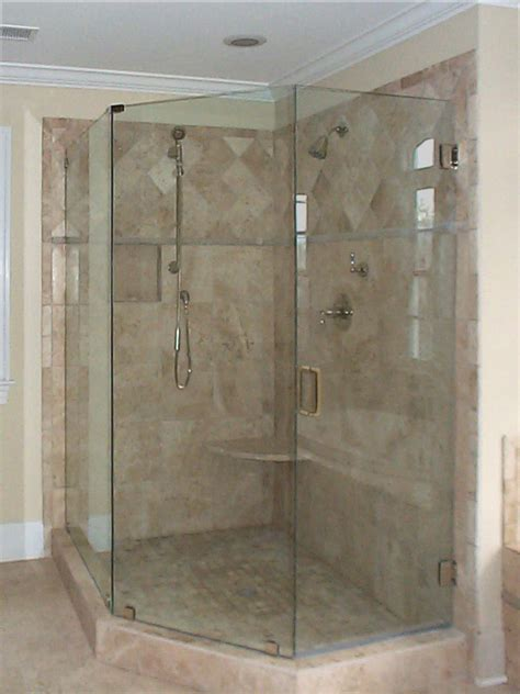 Shower Doors And Walls Frameless Shower Doors Knee Wall Home Remodeling And
