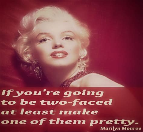 marilyn monroe quote two faced quotes for facebook quotesgram