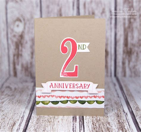 make an anniversary card number of years anniversary card ink it up with