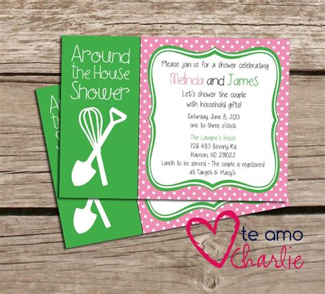 Around The House Bridal Shower by Around The House Couples Shower Invitation Housewarming Printable Invitations Bridal