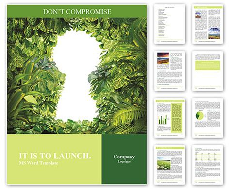 keyhole nature brochure template design id 0000008048 keyhole nature word template design id 0000008048