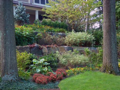 Guide Picture Sle Backyard Landscaping On A Slope Ideas For Garden Walls