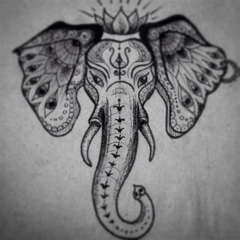 indian elephant tattoo designs zlova indian elephant sketch tattooart